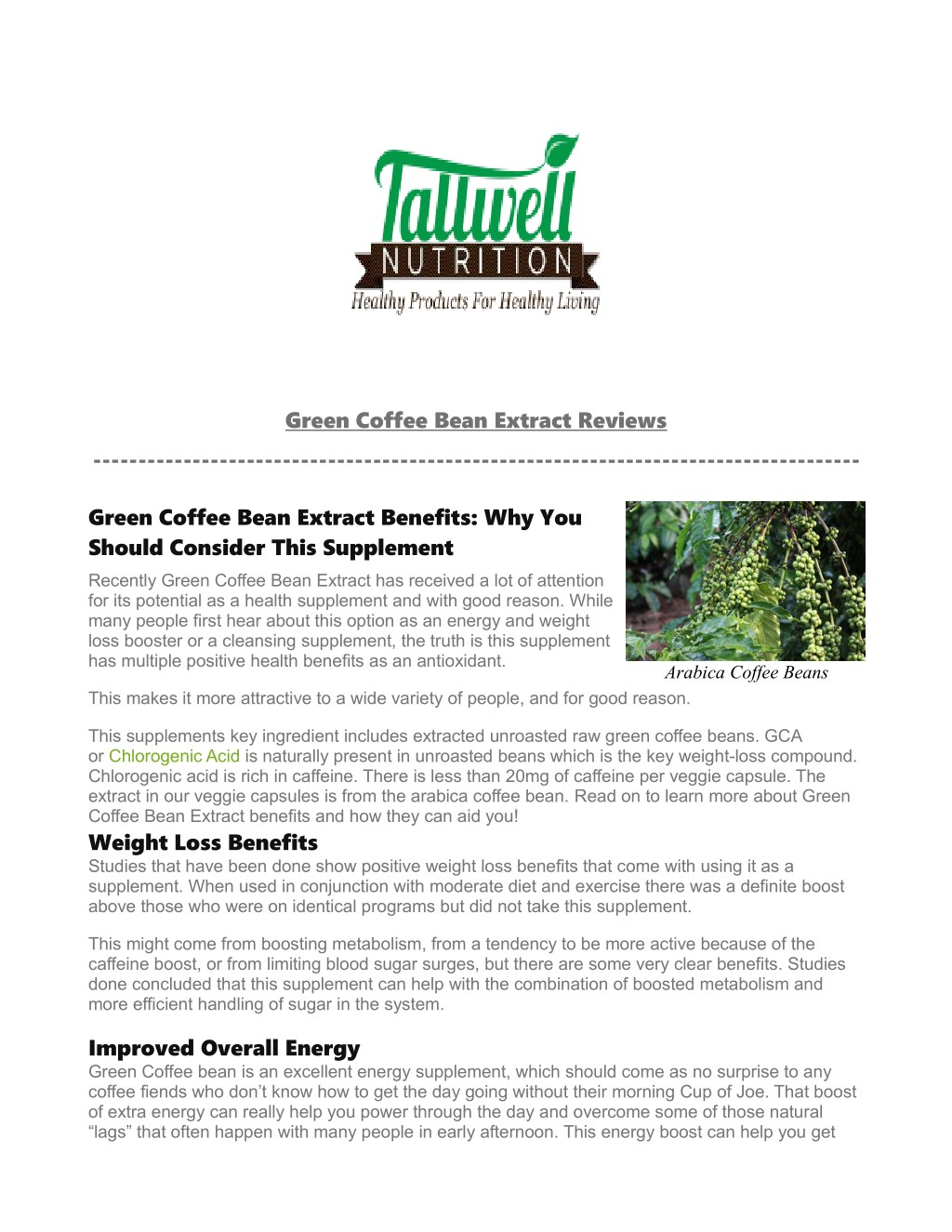 Ppt Green Coffee Extract Reviews Powerpoint Presentation Free