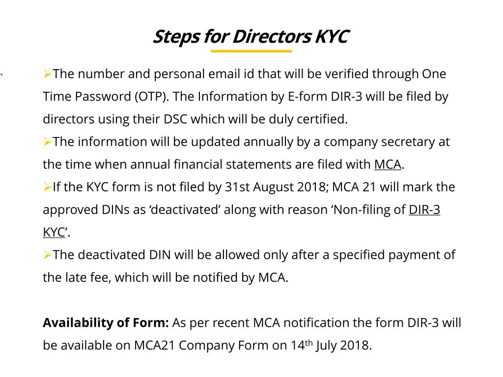 PPT - Introduction to online kyc for all directoers PowerPoint