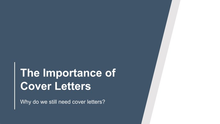 the importance of cover letters n.