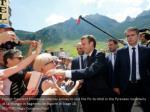 french president emmanuel macron arrives to visit