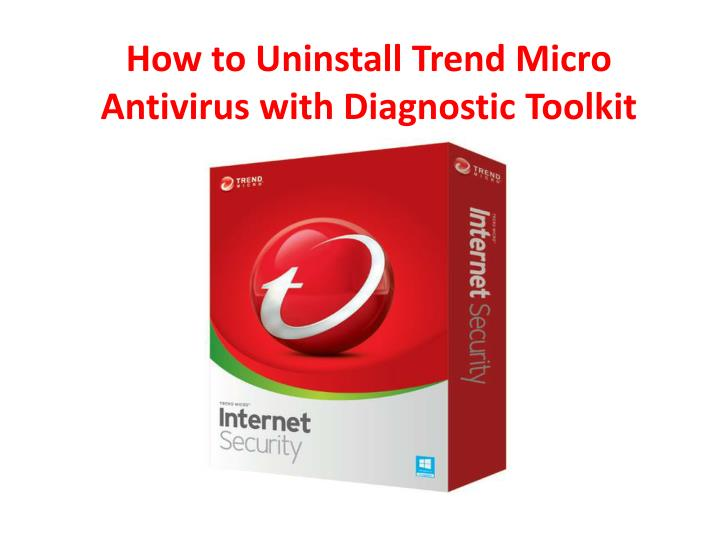 how to uninstall trend micro antivirus with n.