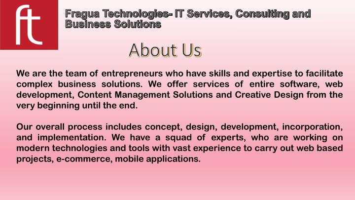 fragua technologies it services consulting and business solutions n.