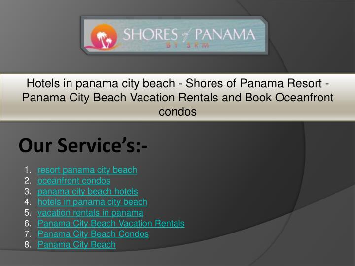 hotels in panama city beach shores of panama n.