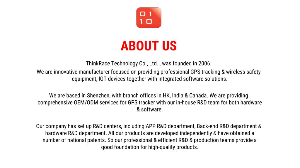 PPT - GPS Product Manufacturer – ThinkRace Technology PowerPoint