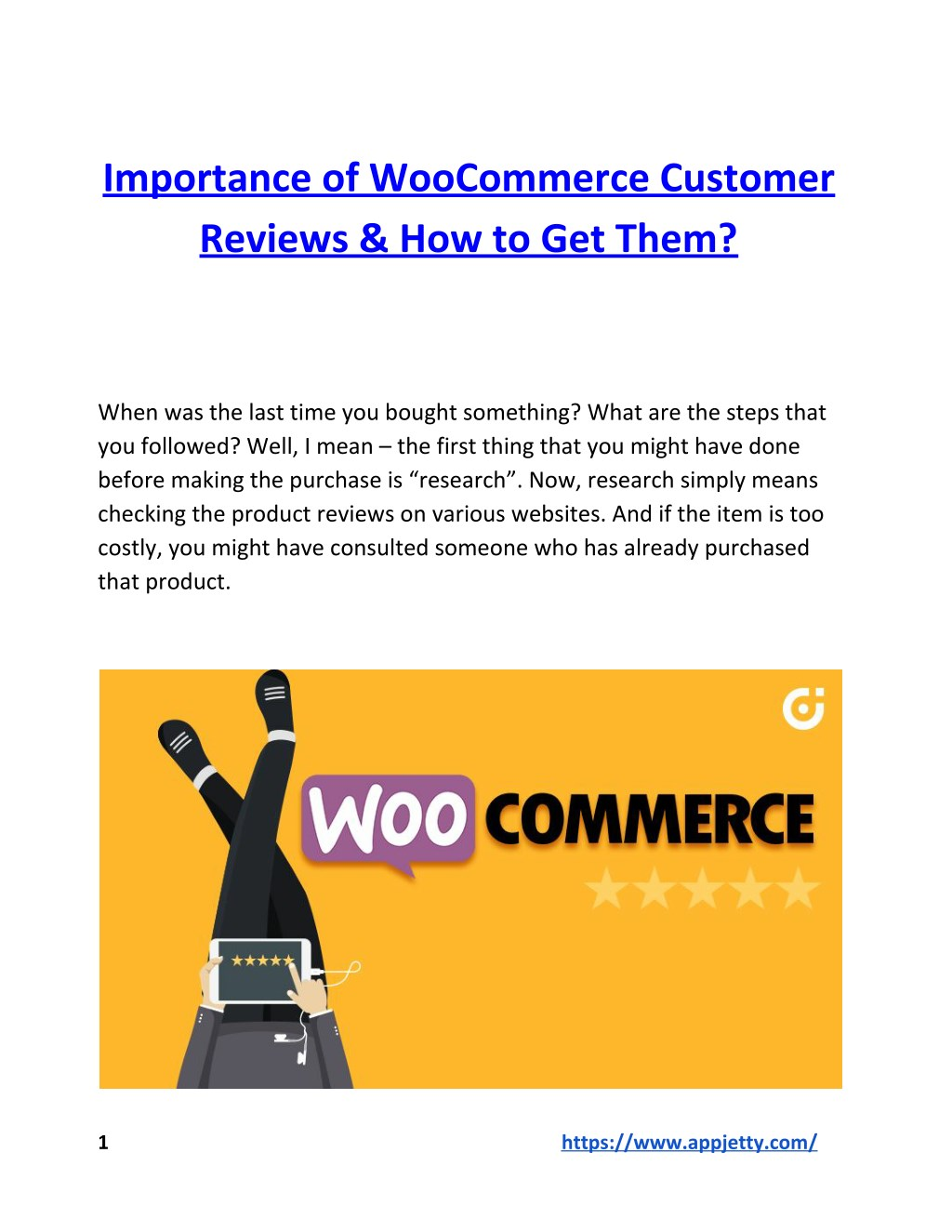 Ppt Importance Of Woocommerce Customer Reviews How To Get Them