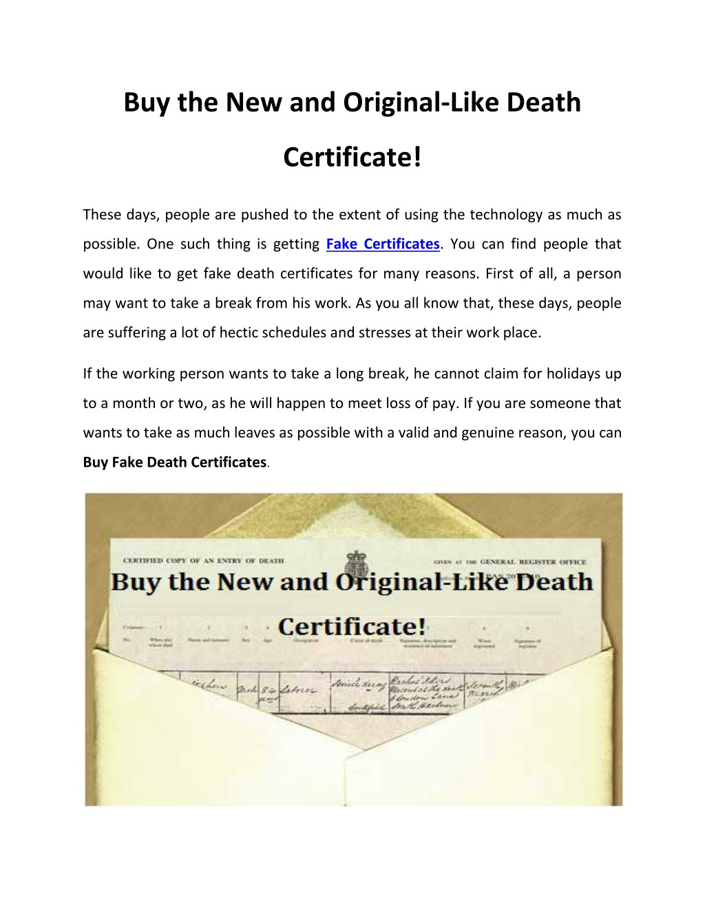 Ppt Buy The New And Original Like Death Certificate Powerpoint