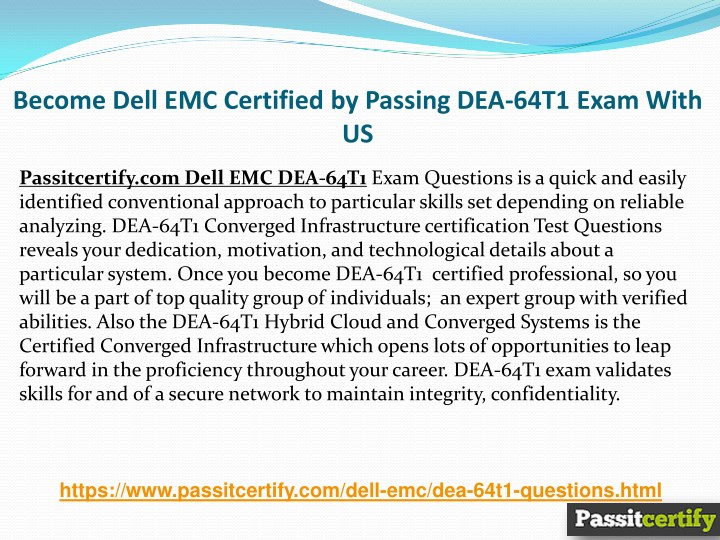 Ppt Pass Dell Emc Dea 64t1 Exam In First Attempt Powerpoint