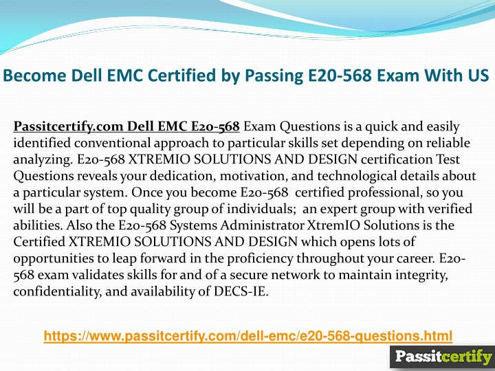 PPT - Try These Dell EMC E20-568 Exam Actual Questions PowerPoint