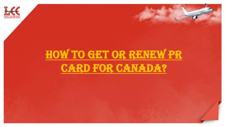How to renew pr card canada