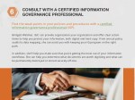 consult with a certified information governance