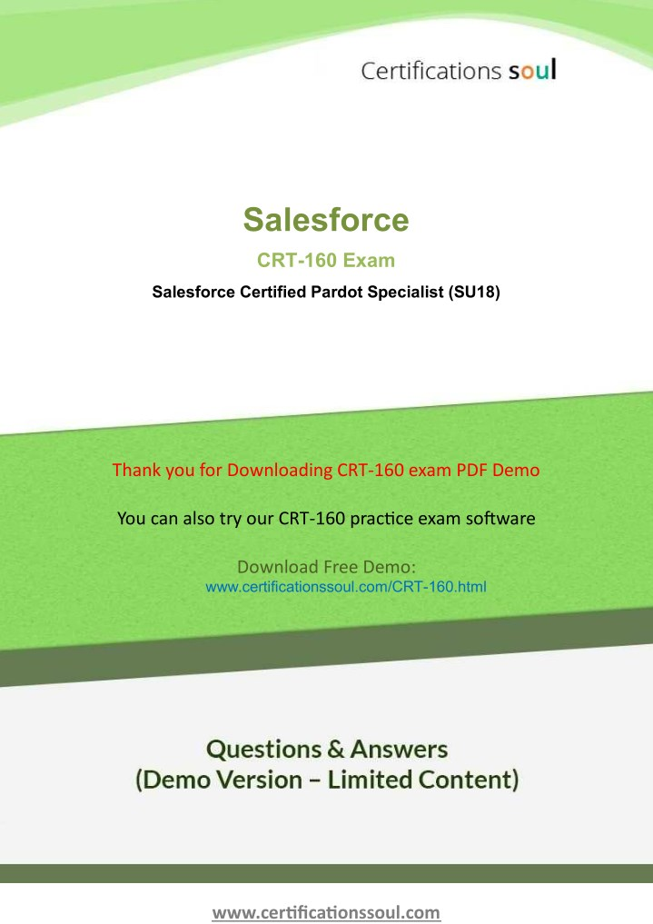 Ppt Pardot Consultant Certification Salesforce Questions Crt 160