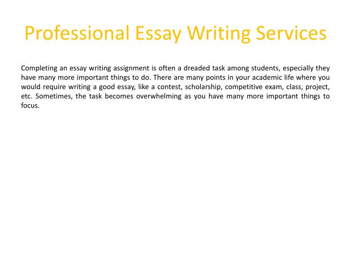 Essay writing services 2018