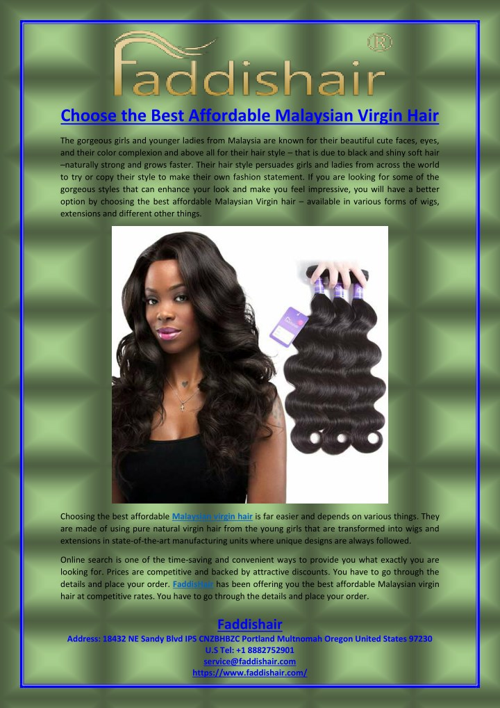 choose the best affordable malaysian virgin hair n.