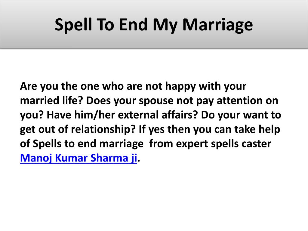 Spell to end my relationship