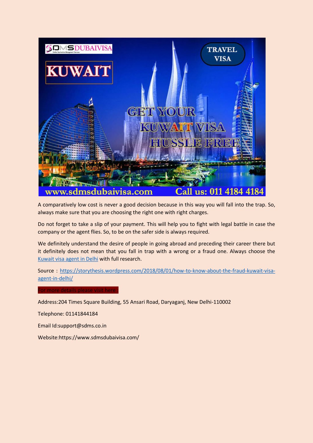 PPT - How to Know About the Fraud Kuwait Visa Agent in Delhi