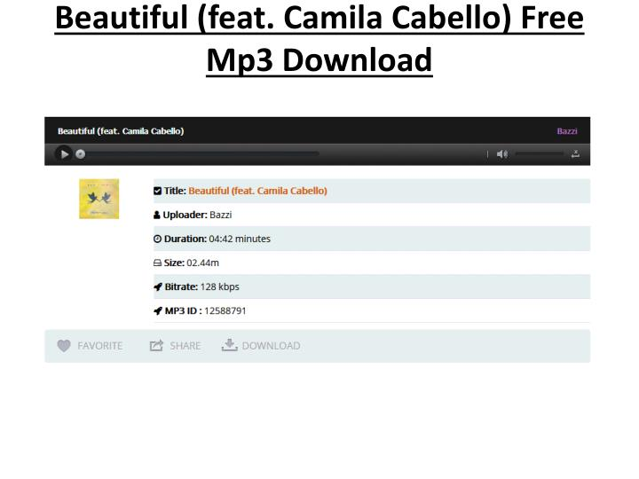 beautiful feat camila cabello free mp3 download n.