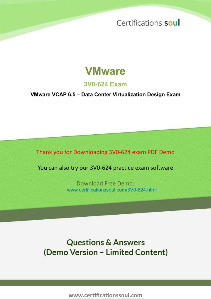 PPT - 3V0-624 VMware VCAP6 5-DCV Design Exam Questions PowerPoint