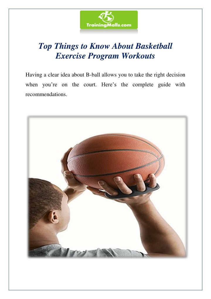 top things to know about basketball exercise n.
