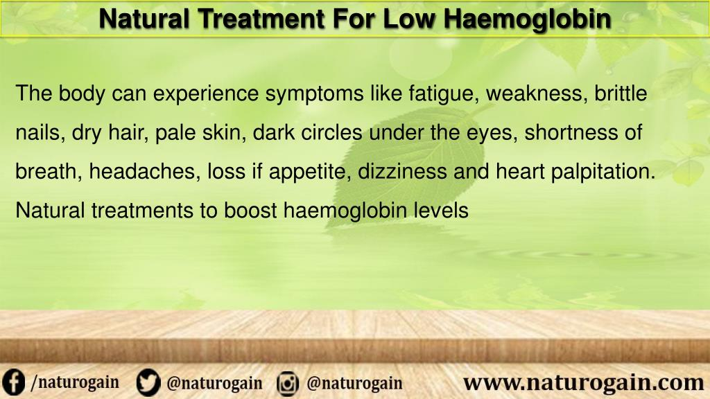 PPT - Natural Treatment for Low Haemoglobin to Boost Energy Level in