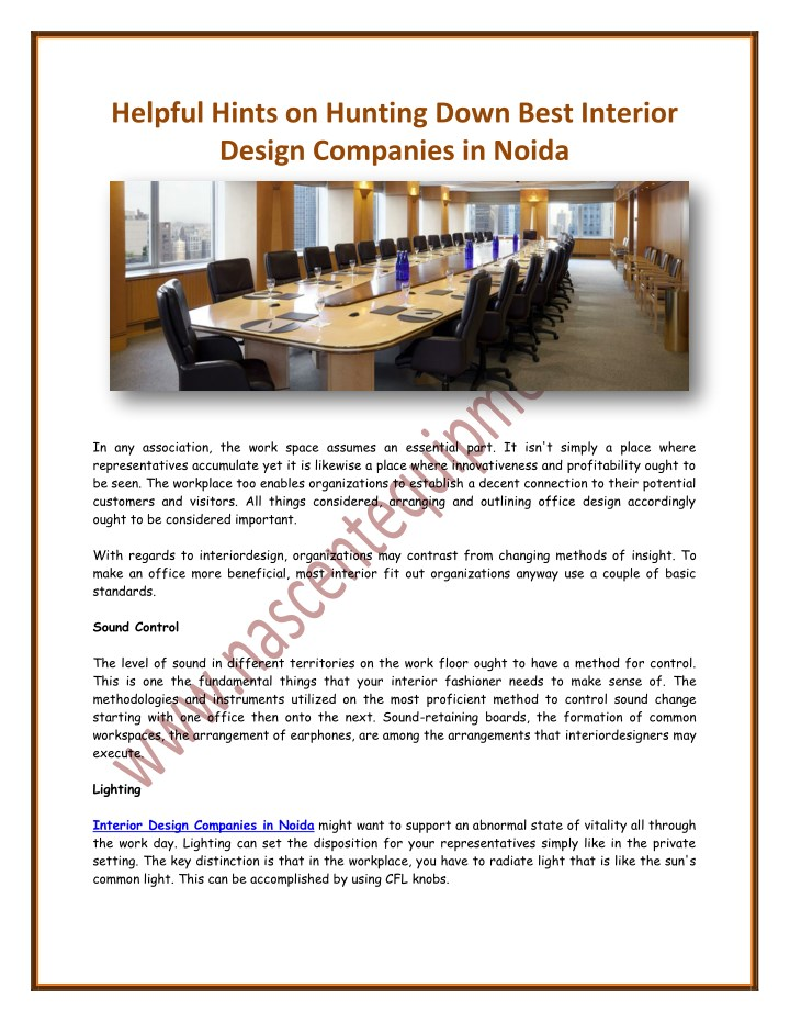 Ppt Helpful Hints On Hunting Down Best Interior Design Companies In Noida Powerpoint Presentation Id 7968129