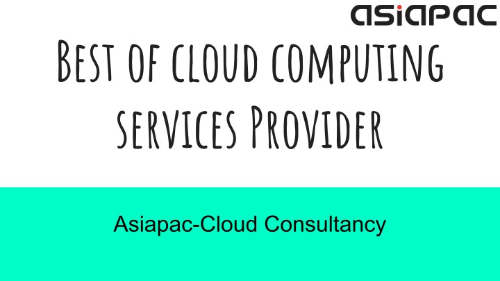 best of cloud computing services provider n.