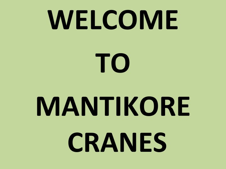 welcome to mantikore cranes n.