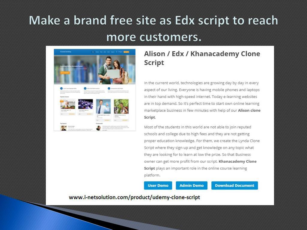 PPT - Alison Clone | Edx script | Khanacademy Clone PowerPoint