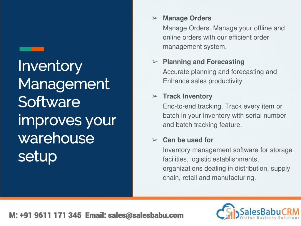 PPT - SalesBabu Inventory Management Software PowerPoint