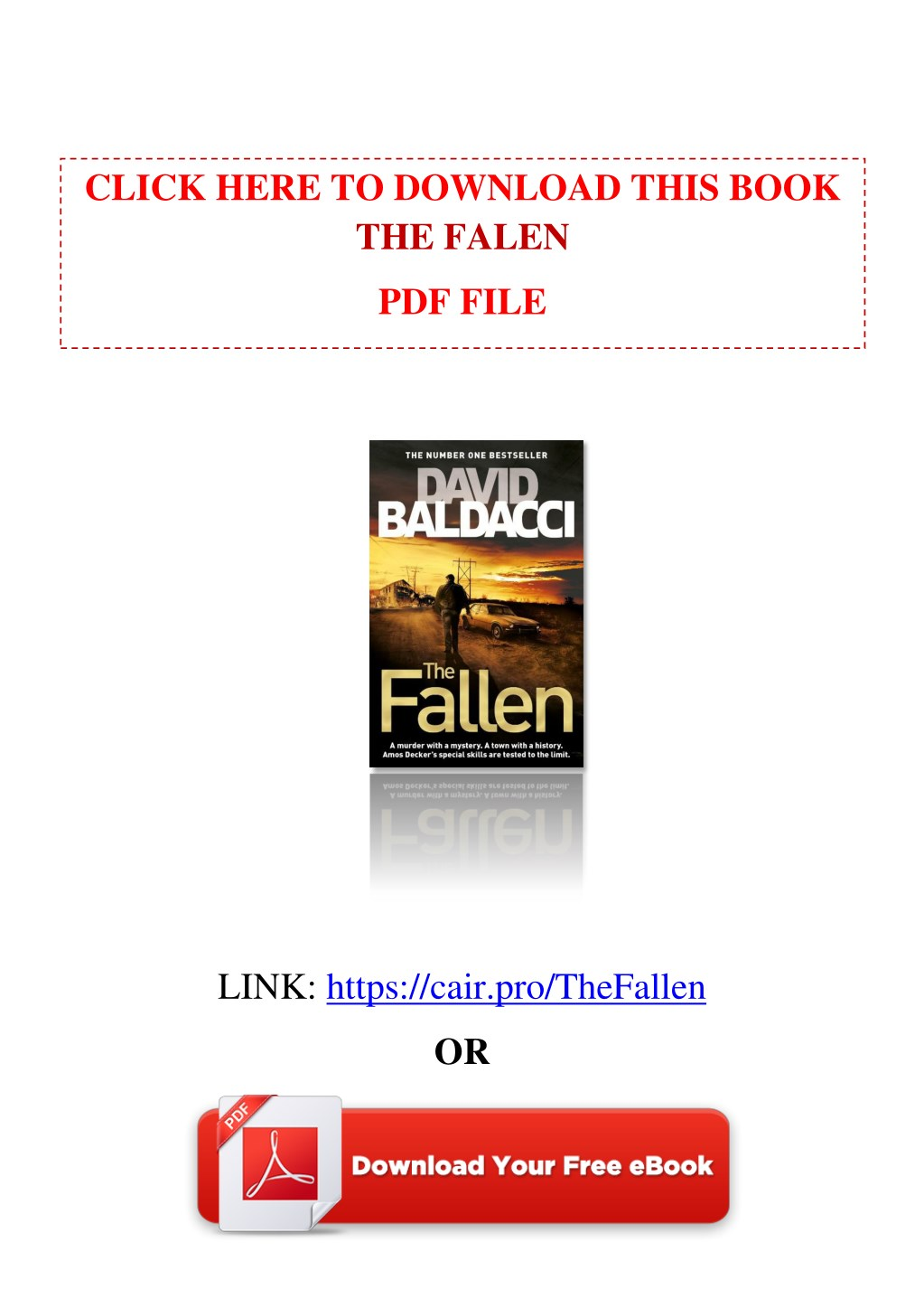 PPT - [PDF] Free Download The Fallen by David Baldacci