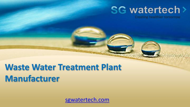 waste water treatment plant manufacturer n.