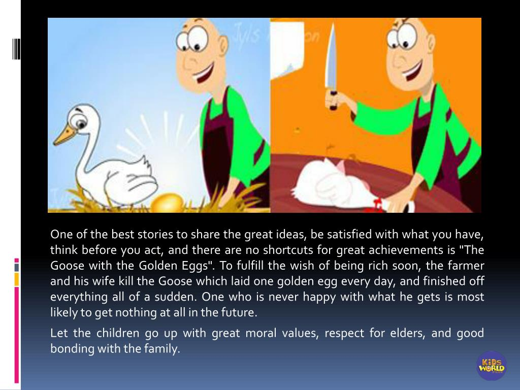 PPT - Short Story - The Goose with the Golden Eggs PowerPoint