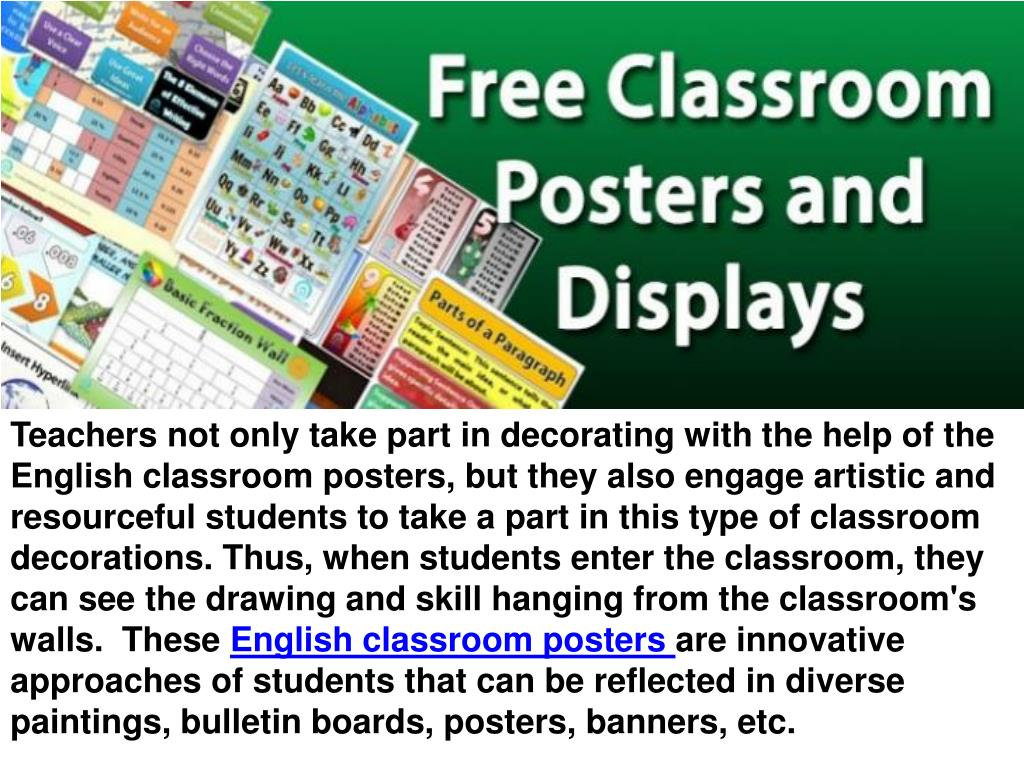 PPT - Different types of educational posters for classroom