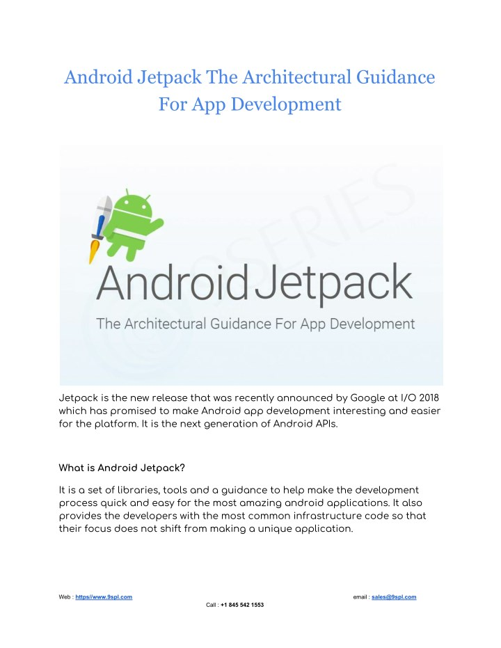 PPT - Android Jetpack The Architectural Guidance For App