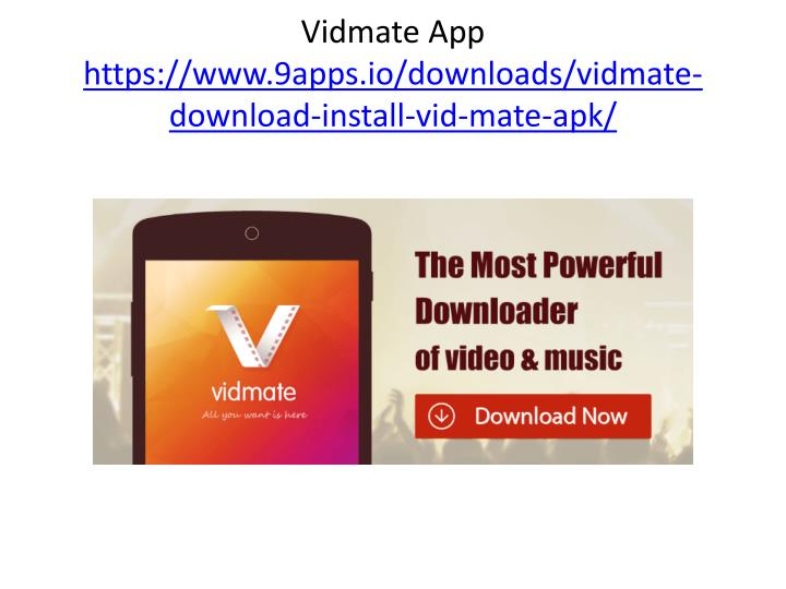 VIDMATE DOWNLOAD 2017 INSTALL - Vidmate old app download