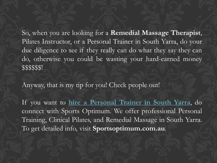 Ppt How To Find The Best Remedial Massage Therapist Personal