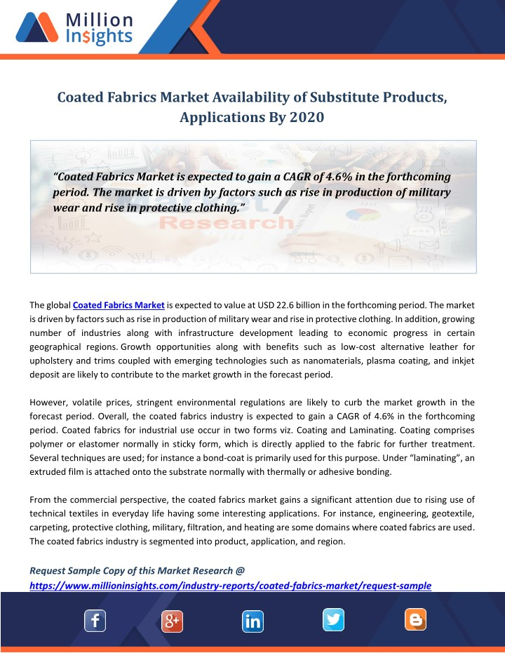 coated fabrics market availability of substitute n.