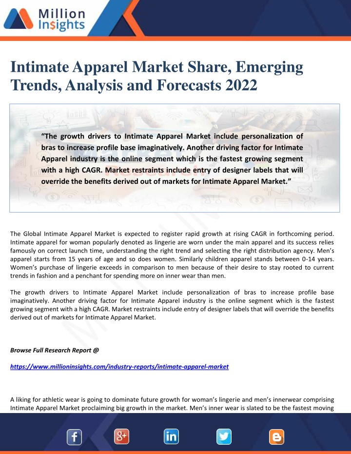 intimate apparel market share emerging trends n.