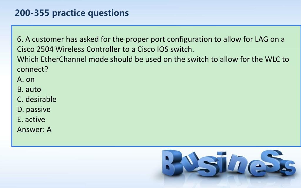 PPT - CCNA Wireless 200-355 dumps PowerPoint Presentation