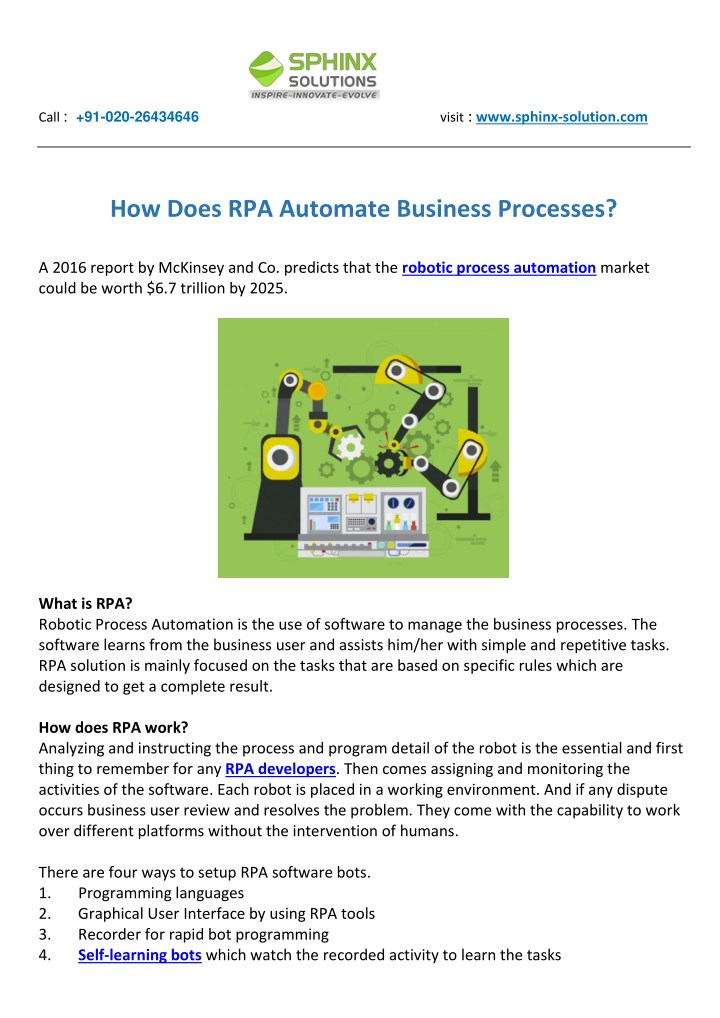 PPT - How Does RPA Automate Business Processes PowerPoint