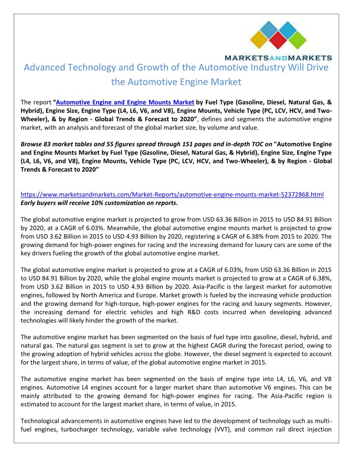 PPT - Advanced Technology and Growth of the Automotive Industry Will