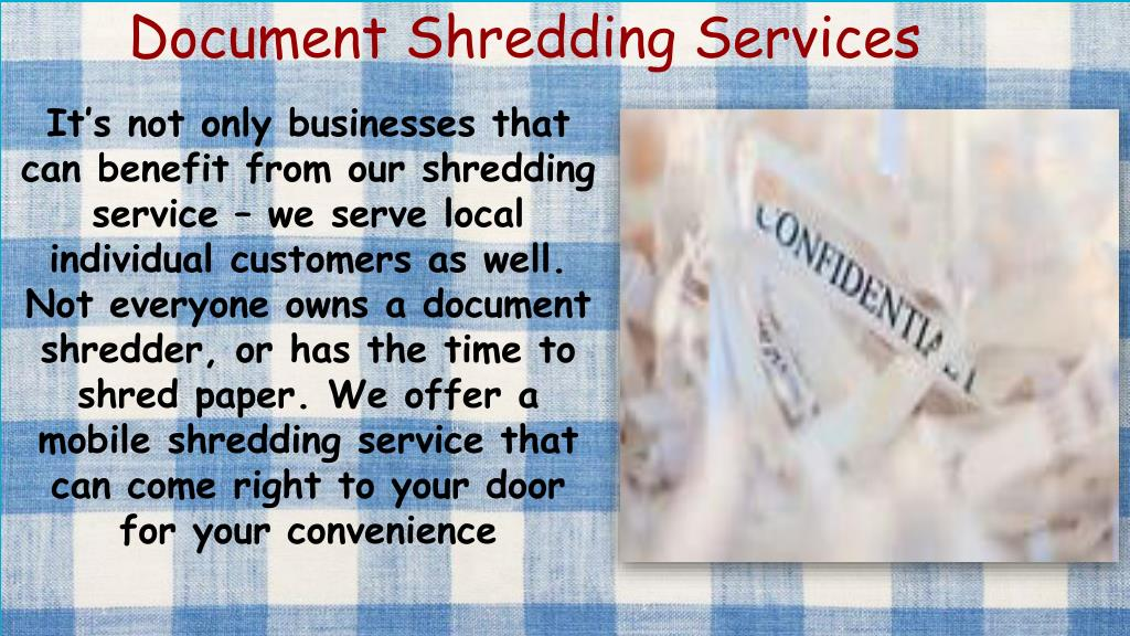 PPT - Secure Document Shredding PowerPoint Presentation - ID:7971938