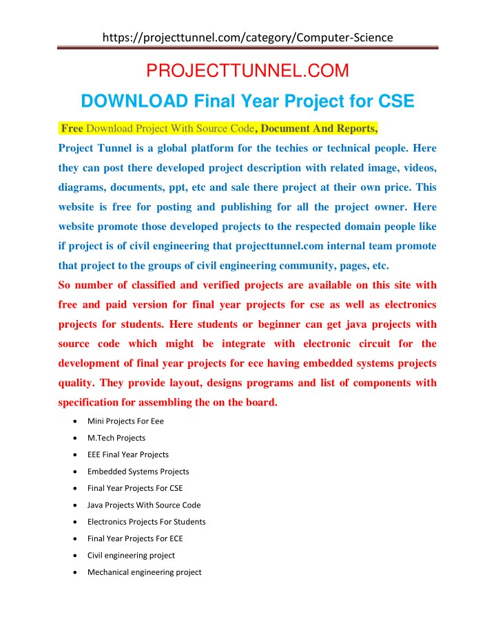 PPT - final year projects for cse PowerPoint Presentation - ID:7972242