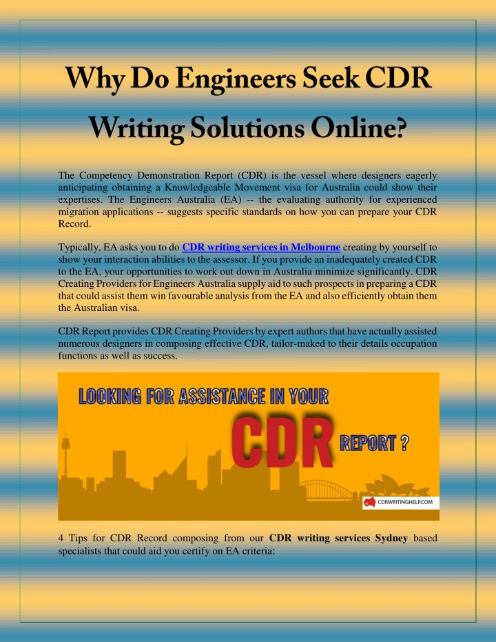 PPT - Why Do Engineers Seek CDR Writing Solutions Online