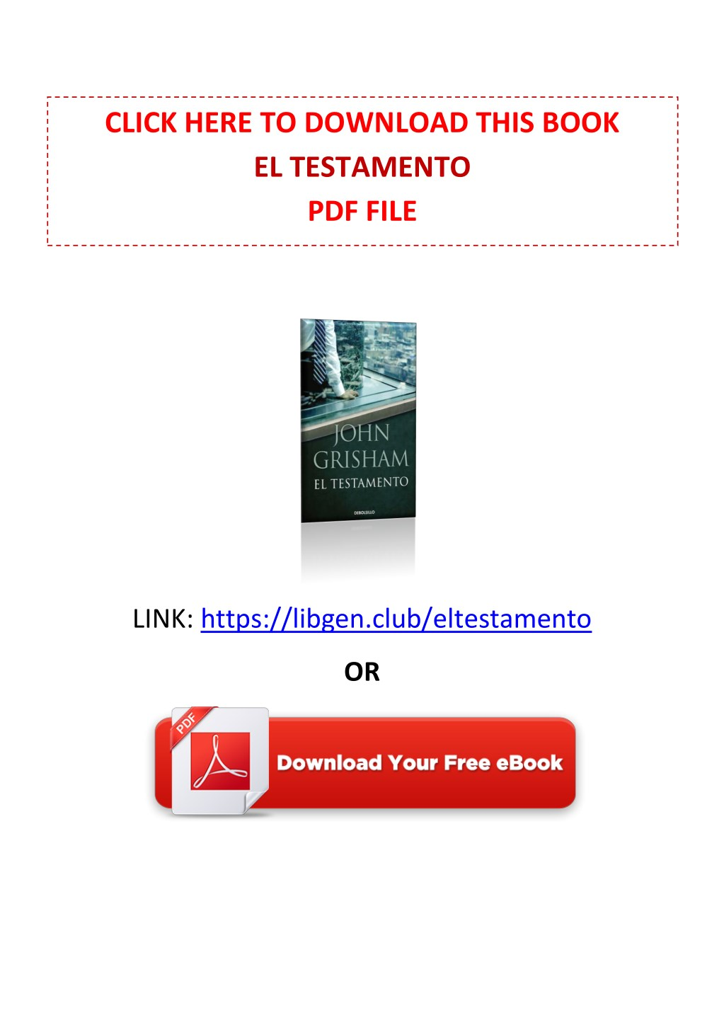 Ppt Pdf Free Download El Testamento By John Grisham Powerpoint Presentation Id 7972483