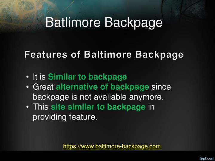 Batlimore Backpage