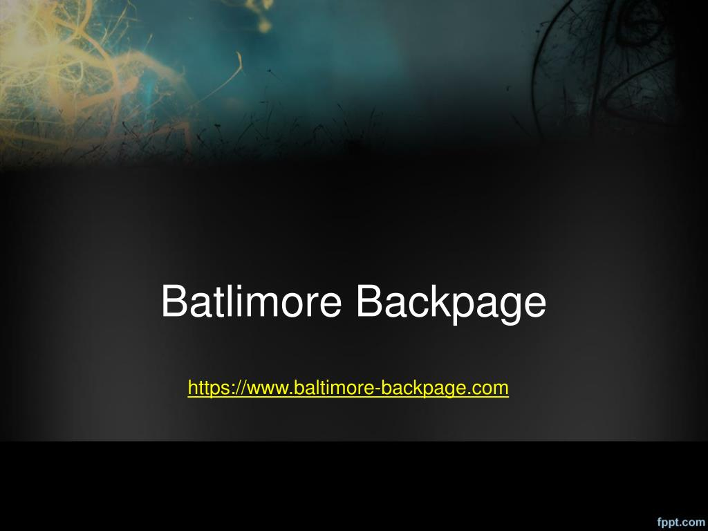 Batlimore Backpage N