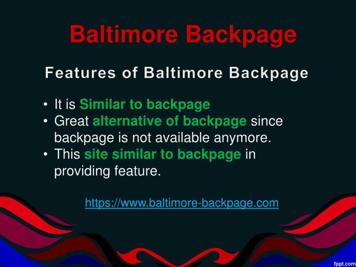 Baltimore Backpage