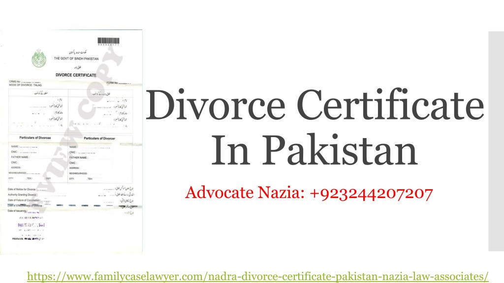 Ppt How To Get Divorce Certificate In Pakistan Powerpoint