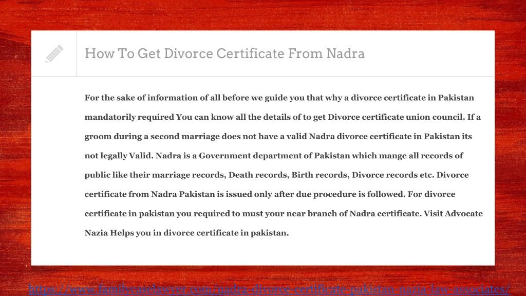 PPT - How To Get Divorce Certificate In Pakistan PowerPoint