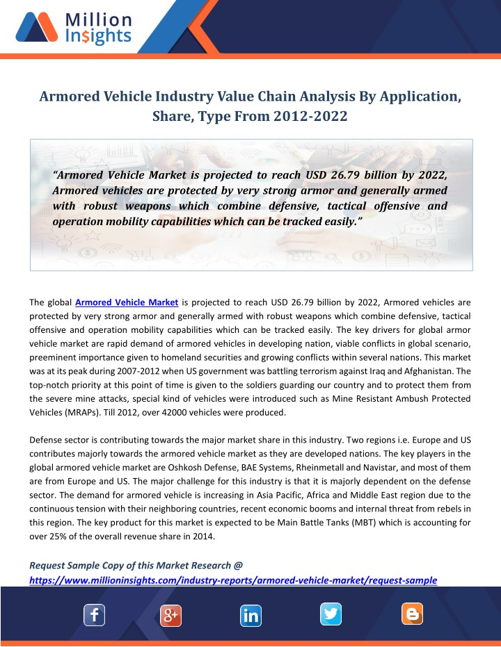 armored vehicle industry value chain analysis n.